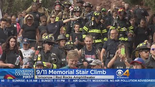 Thousands Prepare For 9/11 Memorial Stair Climb At Red Rocks