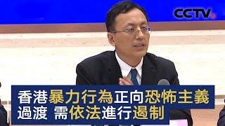 专家:香港暴力行为正向恐怖主义过渡 需依法进行遏制 | CCTV中文国际