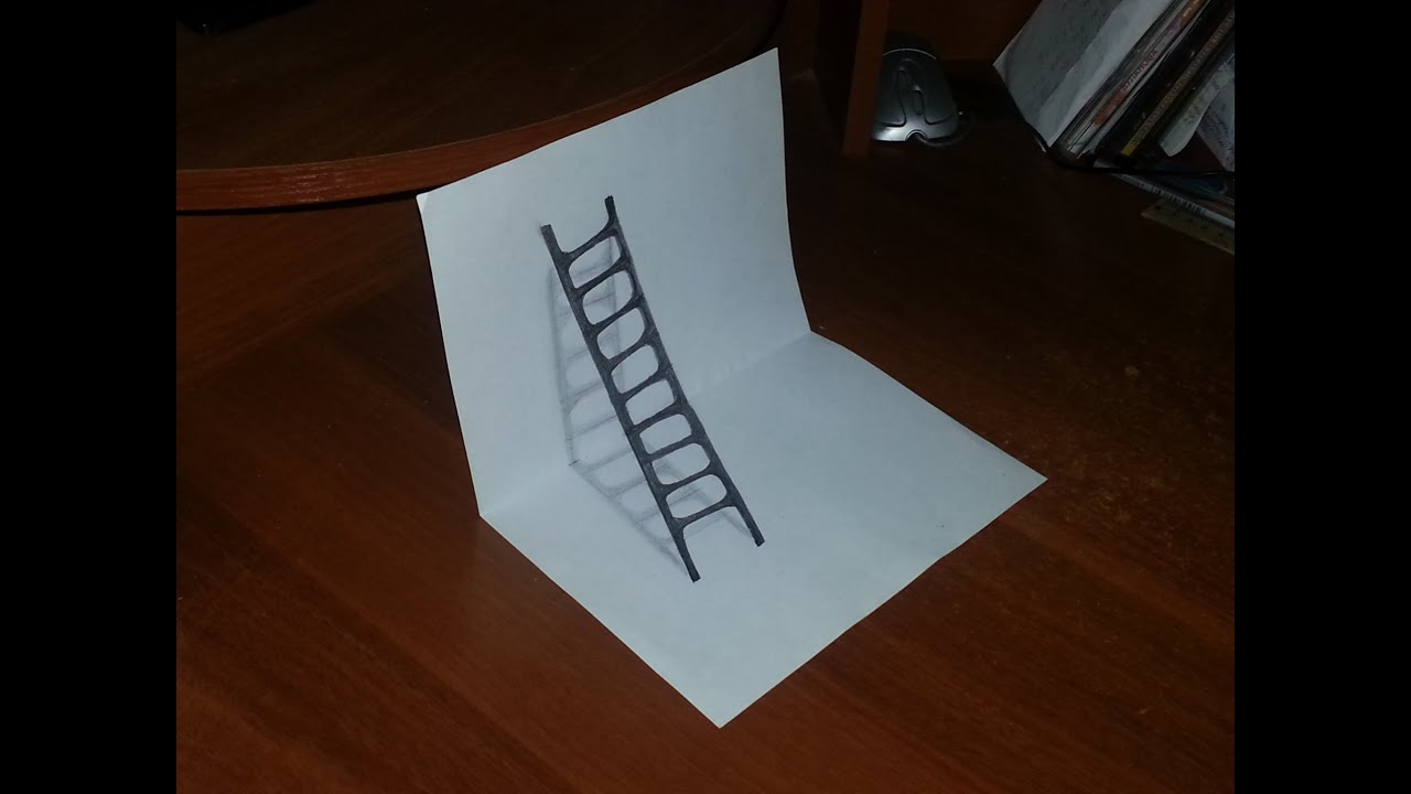 как нарисовать поэтапно карандашом 3d картинку