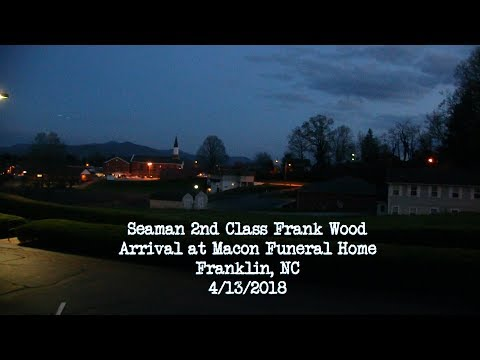 Arrival of Frank Wood at Funeral Home