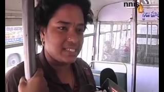 Wire Mesh Between Men, Women In Hyderabad Buses