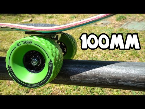 100mm ALL TERRAIN SKATEBOARD WHEELS!!!
