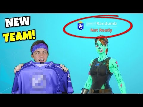 i joined this fortnite team... (big surprises!)