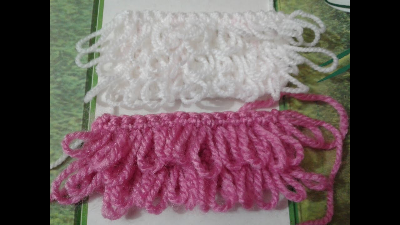 Loop Stitch Crochet Easy Step By Step Tutorial Youtube
