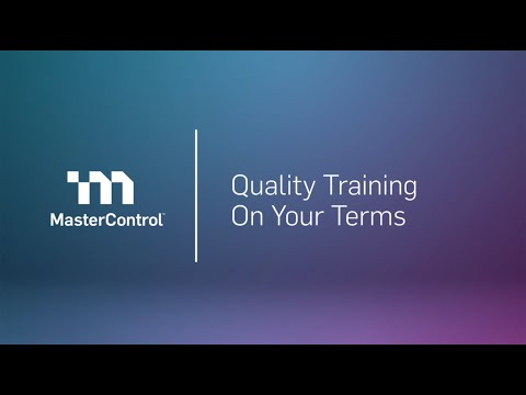 Intro to Optimize your Strategy for Training MasterControl End Users