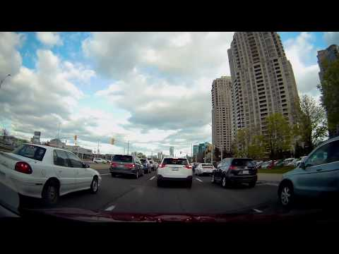 Driving in Toronto, North York, Brampton, Mississauga, Milton, Canada, May 2017, Part 29