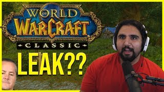 LEAKED WoW Classic Release Info??