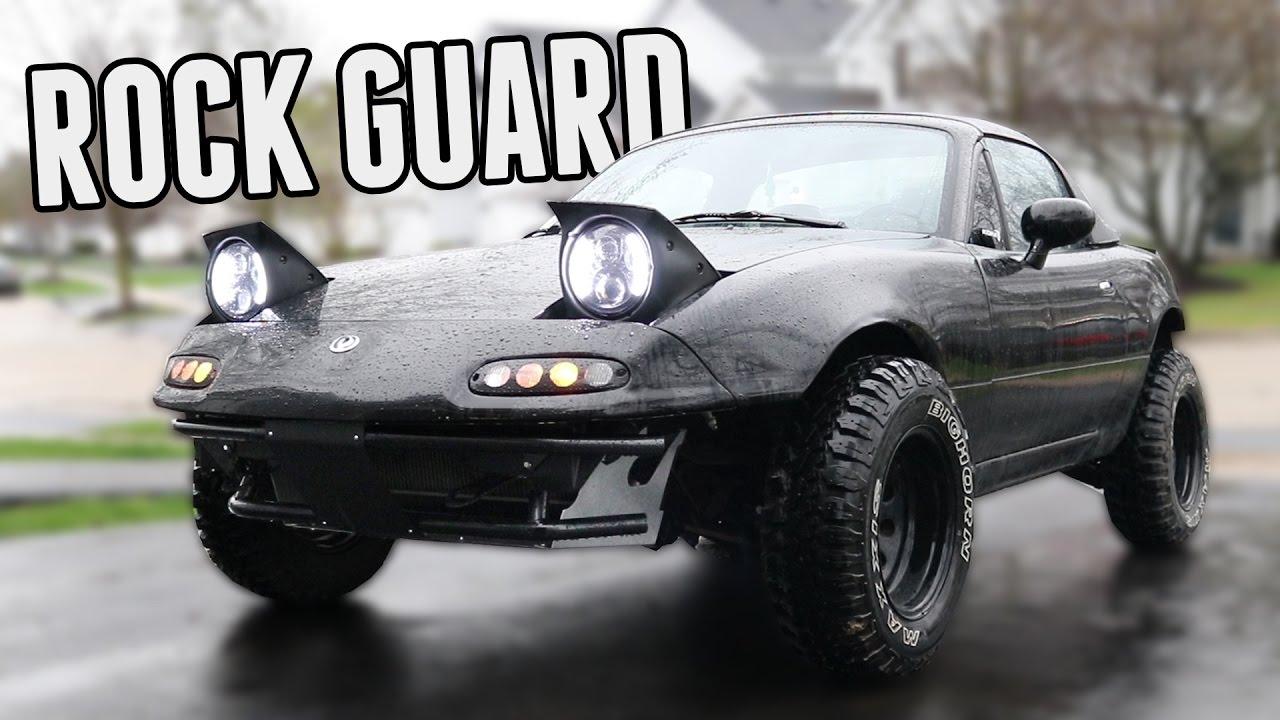 Custom Front Rock Guard Install || Project Rally Miata ...