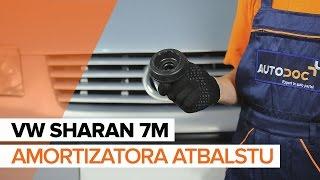 Kā nomainīt VW SHARAN 7M priekšējo amortizatora atbalstu [PAMĀCĪBA]