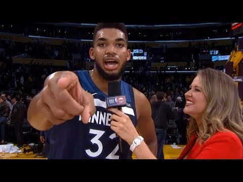 Karl-Anthony Towns Postgame Interview / Timberwolves vs LA Lakers