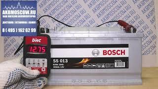 Видео обзор Аккумулятор автомобильный Bosch S5 013 12В 100Ач 830А
