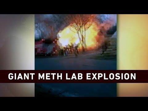Caught On Camera: Giant meth Lab Explosion