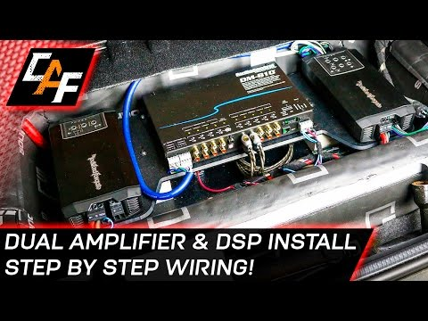 Car Audio Wiring - Dual Amplifier and DSP Install
