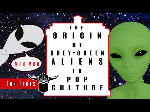 The Origin of Grey & Green Aliens in Pop Culture
