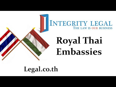 The Royal Thai Embassy in Budapest, Republic of Hungary