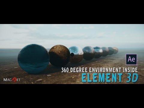#AfterEffect #Element3D #TUTORIAL  ll Advanced 360 degree environment compositing inside Element 3D