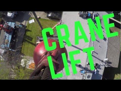 GoPro of Crane Lift x2 HVAC Units