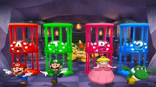 Mario Party 5 MiniGames - Mario Vs Luigi Vs Yoshi Vs Peach (Master Difficulty)