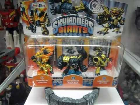 Skylanders Giants - Legendary 3-Pack Toys R Us Exclusive Slam Bam, Ignitor And Jet-Vac Review