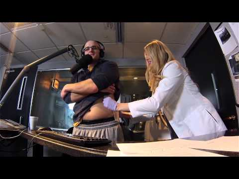 Chris Mueller from 93.7 The Fan Gets CoolSculpting Treatment Live On-Air
