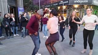 Alegria bailando timba cubana  -la música  une a las personas bailando salsa cubana 2019 madrid timb