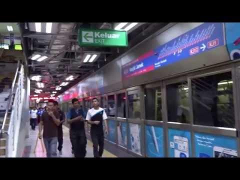Another Ride on Rapid KL metro in Kuala Lumpur, Malaysia