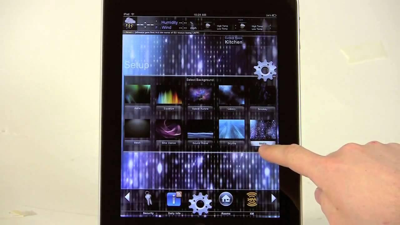 De opera domotica crestron mobile pro g voor de ipad youtube