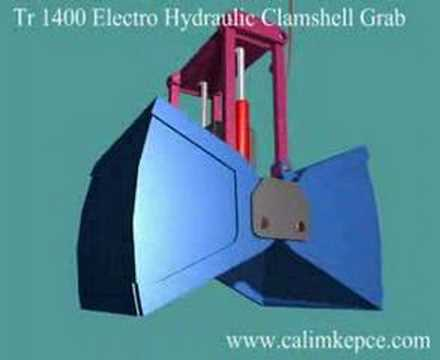 TR 1400A  ELECTRO- HYDRAULIC CLAMSHELL GRABS.