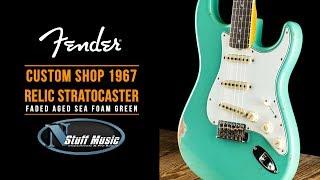 1967 Relic Stratocaster Custom Shop Fender - Faded Aged Sea Foam Green