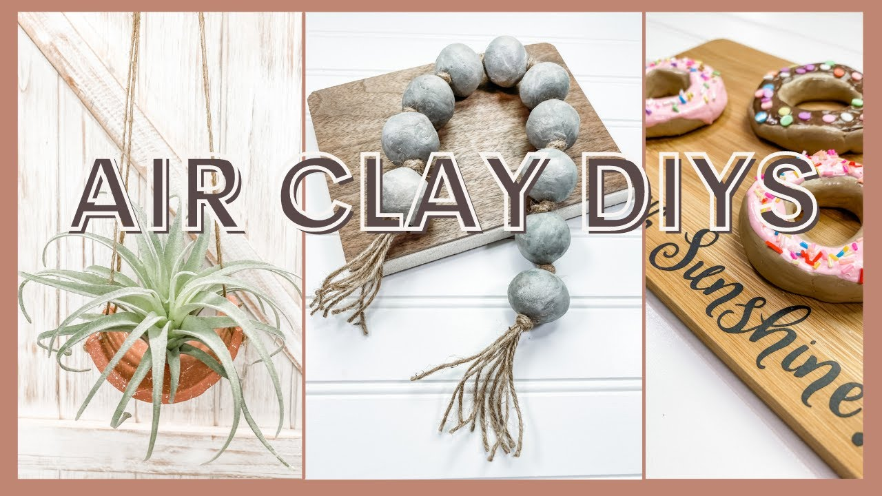 🌟 7 EASY Beginner Air Dry Clay Projects |  How To Make Stylish Home Decor