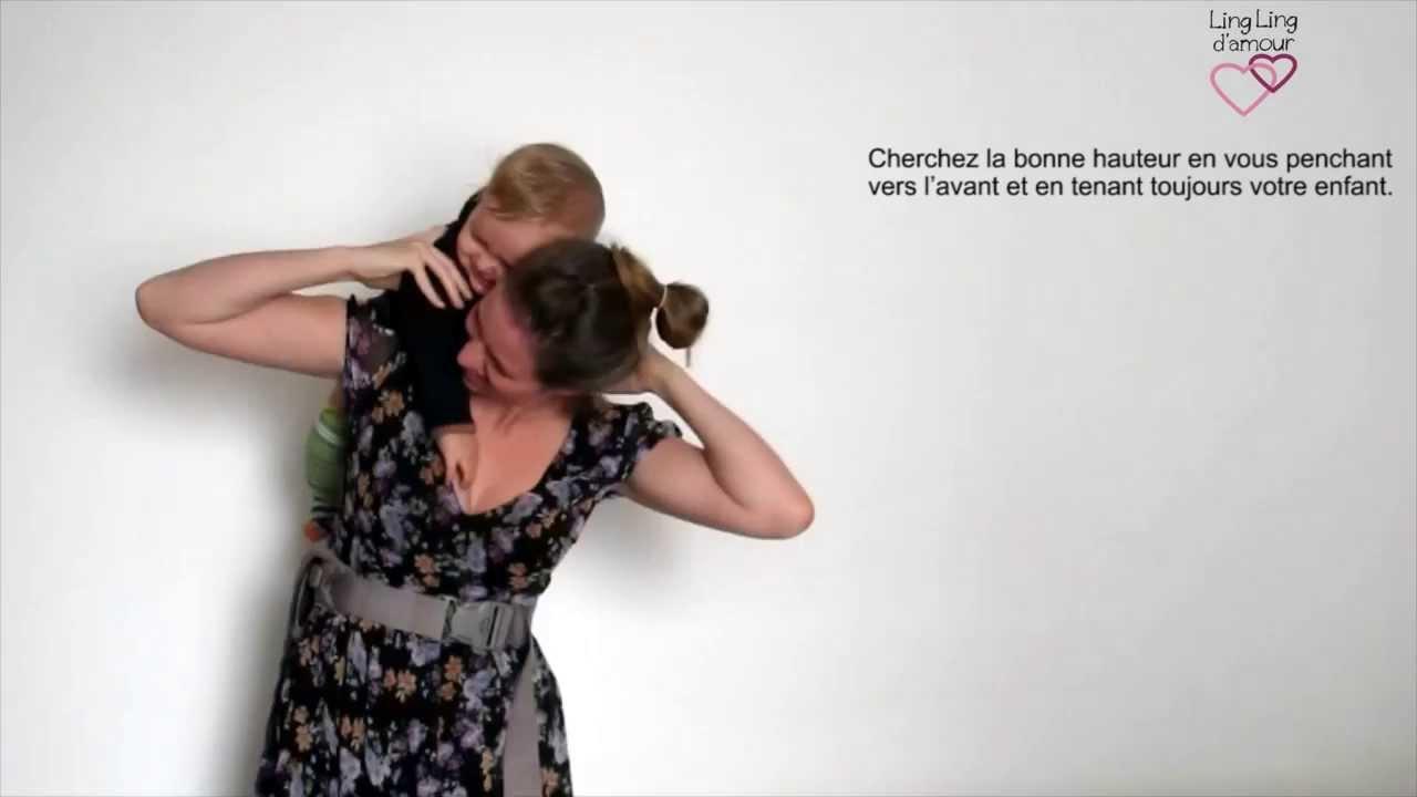 MEI-TAI   portage dos mise au dos par-dessus l épaule pour petit bébé  (gigoteur)   LING LING D AMOUR 9847ee6b154