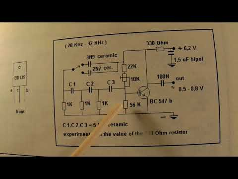 Ultra sound 28 KHz up to 32 KHz sine wave generator schematic
