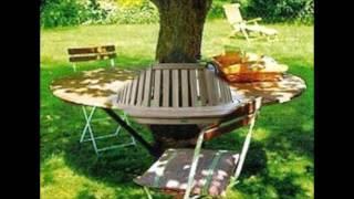 Лавочка скамейка у дерева