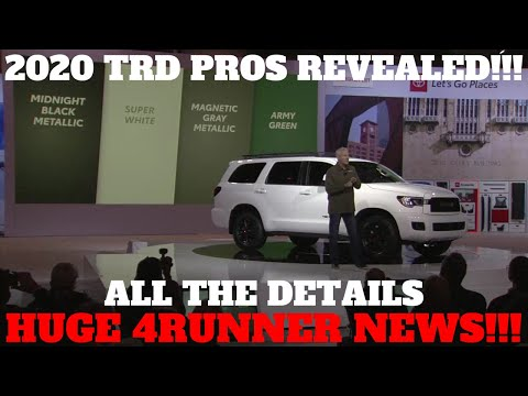 ALL 2020 TOYOTA TRD PRO FEATURES AND EXTRA INFORMATION
