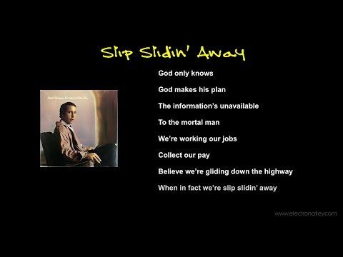 Paul Simon - Slip Slidin' Away Lyrics