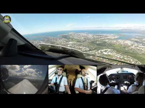 SCENIC Views during Reykjavik Downtown Airport Landing: Hahn Air Citation Sovereign [AirClips]