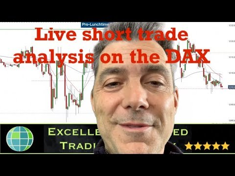 Live short trade analysis using 5 minute chart – Dax Index Trading