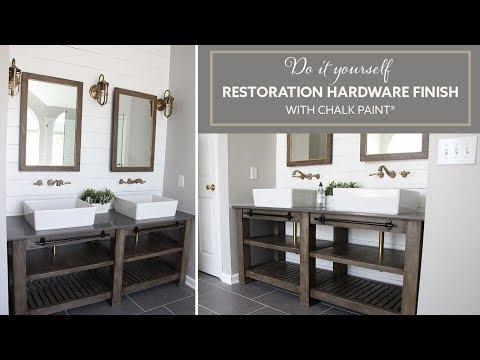 DIY Restoration Hardware Finish with Chalk Paint® Acabado de RH