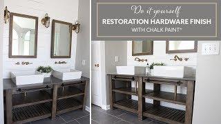 DIY Restoration Hardware Finish with Chalk Paint ®  Bathroom Vanity | Acabado de RH