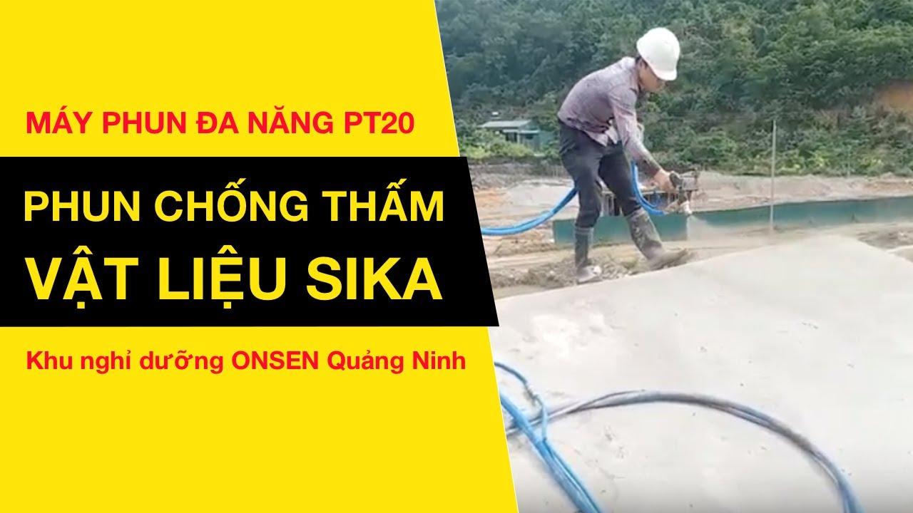 [Máy phun sơn đa năng PT20] Phun chống thấm khu nghỉ dưỡng Quảng Ninh