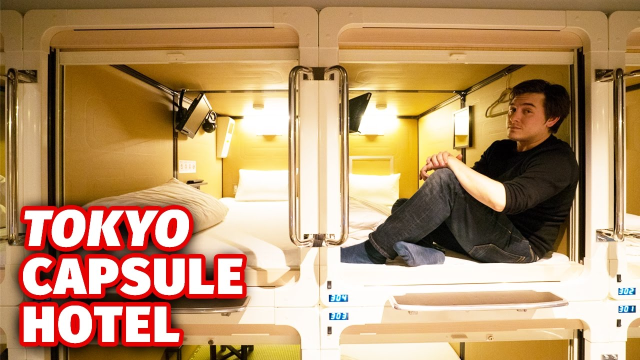 Staying At A Tokyo Capsule Hotel Youtube