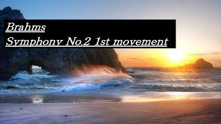 Brahms Symphony No.2 1st movement ブラームス 交響曲 第2番 第1楽章