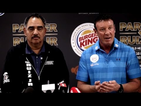 Kevin Barry vs Abel Sanchez!!! Trainers square off at Parker-Ruiz Press Conference