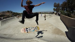 "Crazy Double Tweaked Grab! Halfcab Flip Disaster! - Chris ""Ratface"" Jatoft"