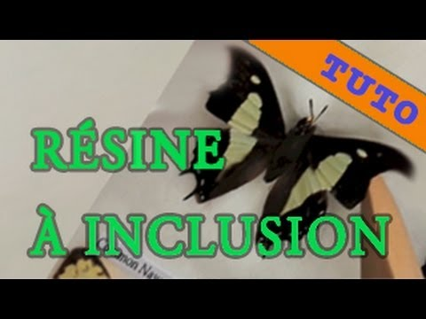 inclusion d 39 un papillon dans r sine de coul e youtube. Black Bedroom Furniture Sets. Home Design Ideas