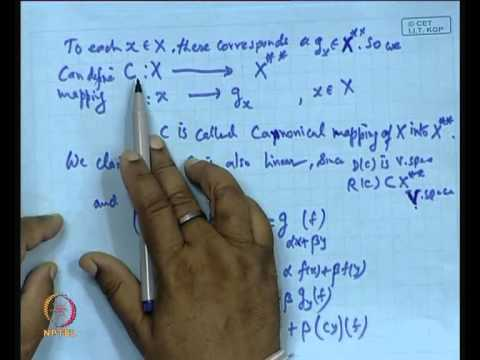 Mod-01 Lec-16 Concept of Algebraic Dual and Reflexive Space