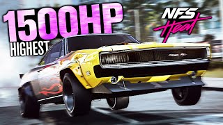 Need for Speed Heat - 1500HP+ Highest Horsepower Car!! (Dodge Charger Customization)