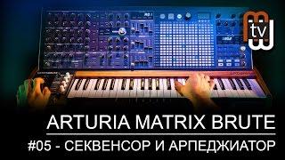 Arturia MatrixBrute #05 - секвенсор и арпеджиатор (демо)