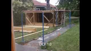 En 3 minutes, la construction d'une cabane en bois