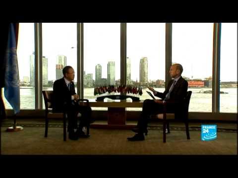 FRANCE 24 Exclusive interview : Ban Ki-Moon, UN Secretary General
